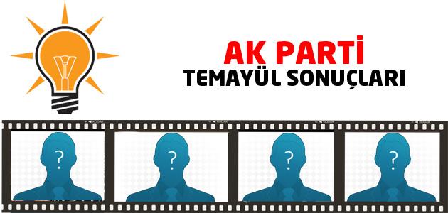 AK Parti Ankara 1. ve 2. Bölge aday adayları temayül yoklaması sonuçları