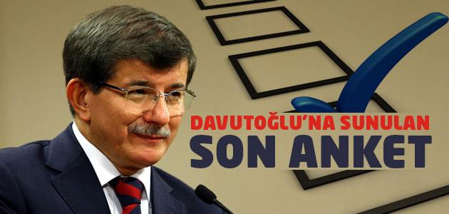 Başbakan Davutoğluna sunulan son anket