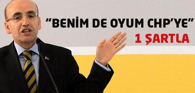 Maliye Bakanı Mehmet Şimşek:Oyumu CHPye veririm