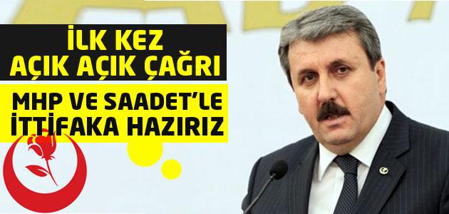 BBP lideri Destici: MHP ve Saadet ile ittifaka hazırız