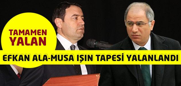 Efkan Ala ile Ağrı Valisi Musa Işın arasında geçtiği iddia edilen konuşma yalanlandı!