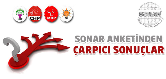 SONAR anketiyle Ak Parti tek başına iktidarnı kaybetti!