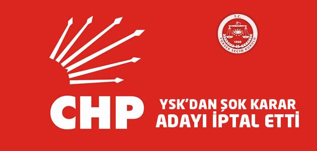 YSK, CHP adayının adaylığını iptal etti!