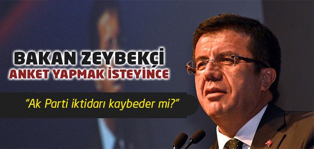 Ekonomi Bakanı Nihat Zeybikçi anket yapmak istedi ama!