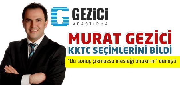 Ünlü anketçi Murat Gezici KKTC seçim sonuçlarını bildi!