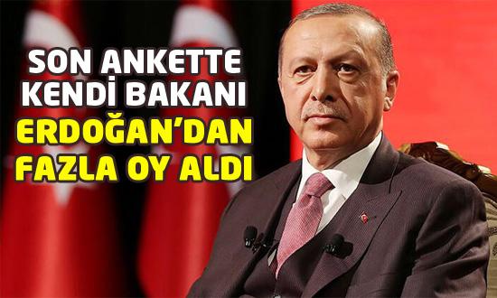 Konsensus anketinde Erdoğan kendi bakanının gerisinde kaldı!