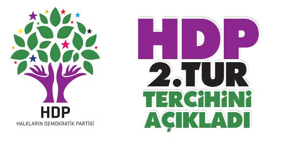 HDP 2. Turda hangi adaya oy verecek sorusu yanıt buldu