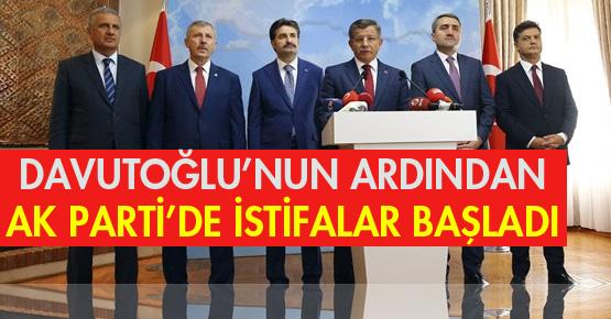 Ahmet Davutoğlu istifa etti! Ardından istifalar gelmeye başladı