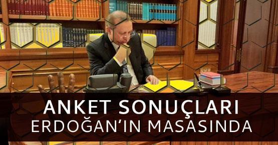 Anket sonuçları Cumhurbaşkanı Erdoğan tarafından incleniyor