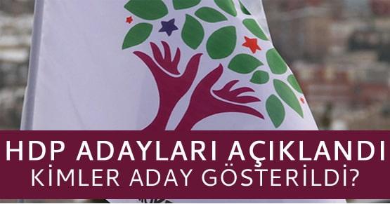 HDP ilk aday listelerini açıkladı