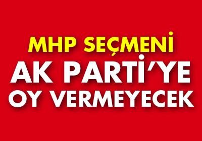 MHP seçmeninin yarısı Ak Parti adayına oy vermeyecek