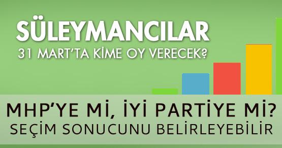 Süleymancılar 31 Mart seçimlerinde kime oy verecek?