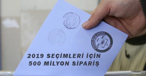YSK 2019 seçimleri için 500 Milyon zarf siparişi verdi mi?