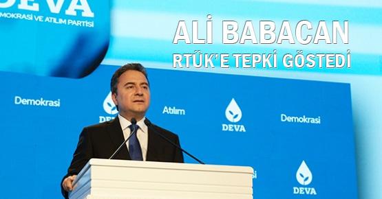 DEVA Partisi lideri Ali Babacan RTÜK kararını eleştirdi