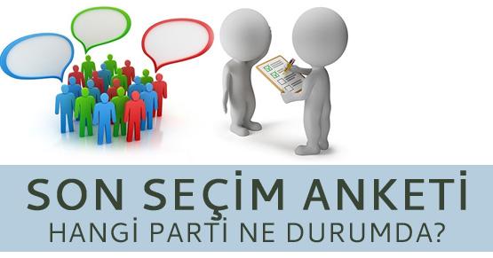 Ankara ve İstanbul için son seçim anketi sonucu