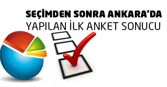 Seçimden sonra yapılan ilk Ankara anket sonucu