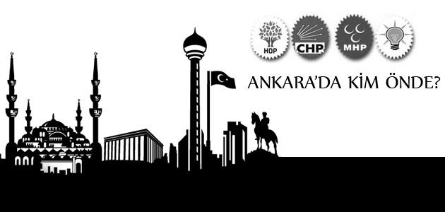 7 Haziran seçimlerinde Ankarada hangi partinin oy oranı ne kadar?