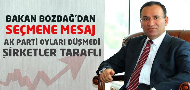 Adalet Bakanı Bekir Bozdağ, partilerini düşük gösteren şirketlere çattı
