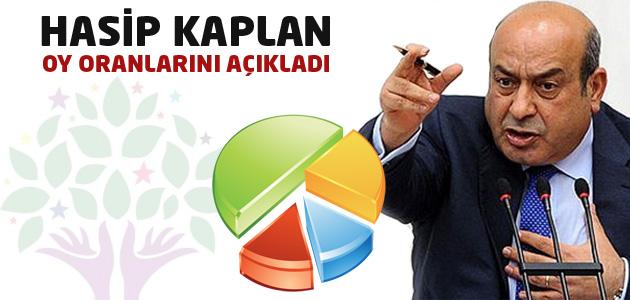 HDP Şırnak Milletvekili Hasip Kaplan OY oranlarını açıkladı