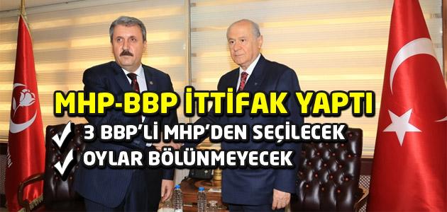 Genel Seçimlerde MHP – BBP ittifak yapacak!