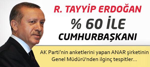 Başbakan Erdoğan Yüzde 60 ile Cumhurbaşkanı !