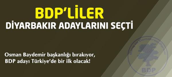 BDPliler Diyarbakır Adaylarını Belirledi!