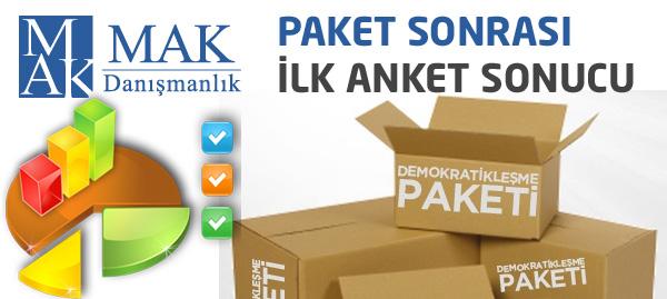 Demokratikleşme Paketi Sonrası İlk Anket