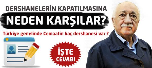 Türkiye Genelinde Cemaate Ait Kaç Dershane Var?