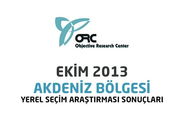 ORC Araştırma Akdeniz Bölgesi Anket Sonuçları