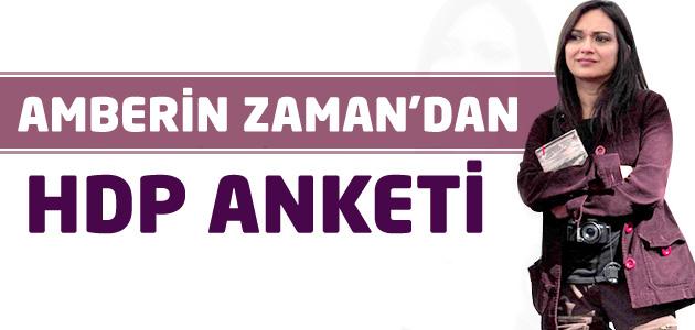Amberin Zaman da HDP için anket yaptı! İşte sonuçlar!