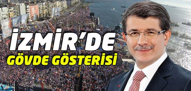 Başbakan Ahmet Davutoğlu İzmir Mitinginde..