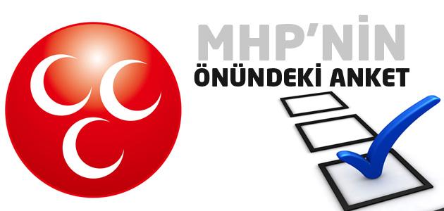 MHPnin masasındaki son anket SONUCUNA göre..
