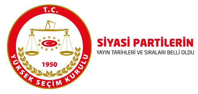 YSK siyasi partilerin yayın zaman ve sıralarını, ad çekme usulüyle belirledi